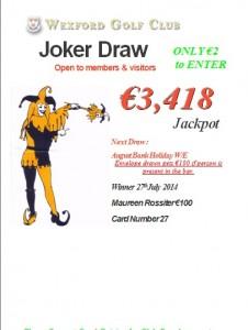 Joker 27th July