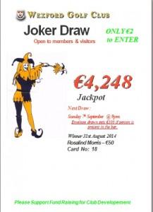 Joker 31st August