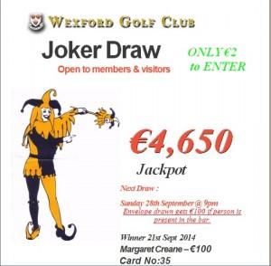 Joker 21st Sept