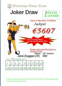 2nd Joker 26th Oct