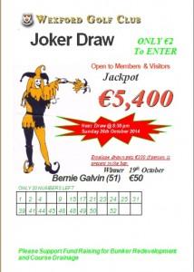 Joker 19th Oct
