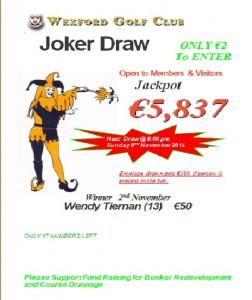 Joker 2nd November