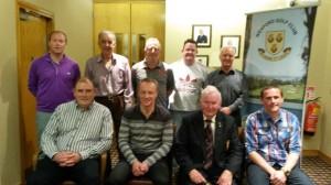 Front row; Derek Fehily (Sponsor), Derek Murphy (1st), Clem Daly (Captain), Barry Keane. Back Row; Brian Morris, John Meyler, Billy Meyler, Paul Carthy, Joe Walsh