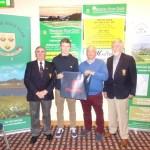Club Singles sponsored by Fitzgeralds Menswear Paddy Cleary, Captain, Jack Sinnott, winner, Aidan Miskella, on behalf of Fitzgeralds Menswear, Ger Cashman, President