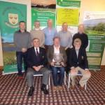 Intermediate Scratch Cup sponsored by Wexford Insurance Back: Kevin Bradley, Eamonn Hopkins, Nigel Morrissey, Roy Doyle, Pat Harnett Front: Paddy Cleary, Ray Cullinane, Winner, Ger Cashman, President