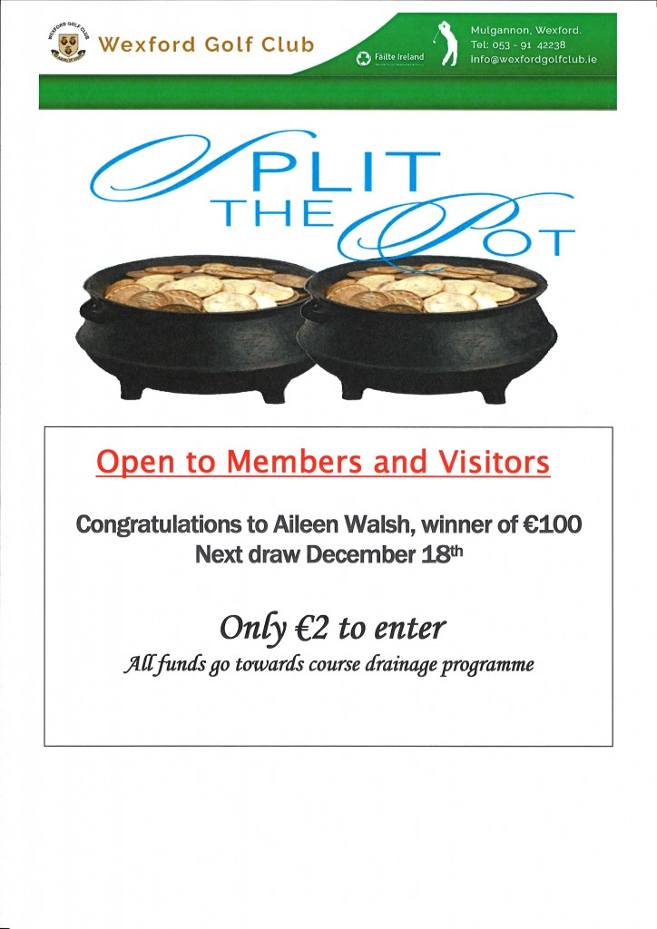 Split the Pot 4th December 2016